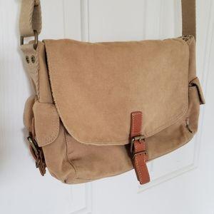 Vintage Fossil Canvas Shoulder Bag